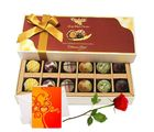 My Best Chocolate Flavors With Rose And Love Card - Chocholik Belgium Chocolates