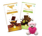 Chocholik Gifts For Her Or Him Specially For Your Girlfriend Bars Combo With Teddy (CH4011_ TD)