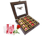 Unending Love Chocolates With Love Card And Rose - Chocholik Belgium Chocolates