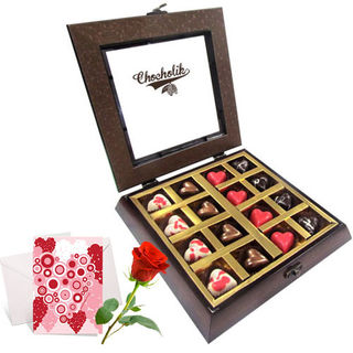 Unending Love Chocolates With Love Card And Rose -...
