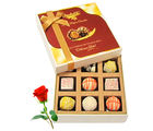 Acceptable Collection Of White Chocolates With Red Rose - Chocholik Luxury Chocolates