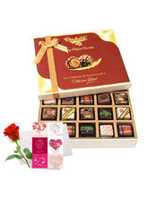 Elegant Treat Of Pralines Chocolates With Love Car...