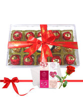 Nicely Wrapped Chocolate Treat With Love Card And ...