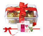 Colorful Treat Of Yummy Chocolates With Love Card And Rose - Chocholik Luxury Chocolates