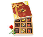 Best Celebration Of Chocolates With Red Rose - Chocholik Luxury Chocolates