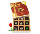 Pralines Combination Of Chocolates With Red Rose - Chocholik Luxury Chocolates