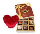 Dazzling Chocolate Collection With Heart Pillow - Chocholik Luxury Chocolates