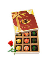 Yummy Chocolates Box With Red Rose - Chocholik Lux...