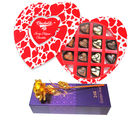 My Sweet Love Chocolates Box With Golden Rose - Chocholik Belgium Chocolates