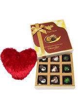 Divine Admire Of Assorted Chocolates With Heart Pi...