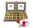Bright Delight Chocolate Box With Love Card And Rose - Chocholik Belgium Chocolates