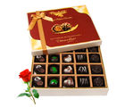 Best Sesame Of Dark And Milk Chocolate Box With Red Rose - Chocholik Belgium Chocolates