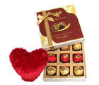 Exclusive Chocolates With Heart Pillow - Chocholik Belgium Chocolates