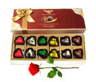 Make Your Day With Choco Big Box With Red Rose - Chocholik Belgium Chocolates