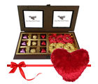 Enchanting Wrapped Chocolates And Truffles With Heart Pillow - Chocholik Premium Gifts
