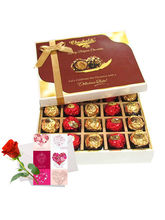 Sweet Choco Surprise Of Chocolates With Love Card ...