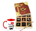 Chocholik Rakhi Gifts All In One Mixed Chocolates In One Box With Brother Love Mug Chocholik Belgium Chocolates (CH3070_ BRO)