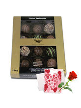 Graceful Assorted Truffles With Love Card And Rose...