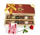 Chocolate Gift For My Love With Rose And Love Card - Chocholik Belgium Chocolates