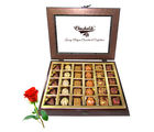 Awesome Tasty Chocolate Treat With Red Rose - Chocholik Belgium Chocolates
