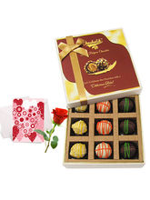 Sweet Admire Of Yummy Chocolates With Love Card An...