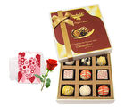 Perfect Gift For Your Special One With Love Card And Rose - Chocholik Luxury Chocolates