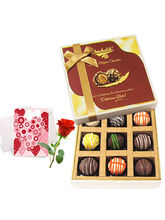 Luscious Collection Of Truffles With Love Card And...