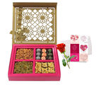 Festival Delight Gift Box With Love Card And Rose - Chocholik Premium Gifts