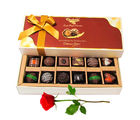 Unique & Amazing Choco Treat With Red Rose - Chocholik Belgium Chocolates