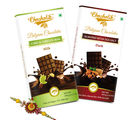 Chocholik Rakhi Gift Sweet Emotions With Chocolate Bars & Rakhi (CH4014_ R)