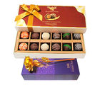 Fancy Lovable Decorated 12Pc Chocolates With Golden Rose - Chocholik Belgium Chocolates