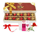 Imparting Emotions Chocolate Box With Love Card And Rose - Chocholik Belgium Chocolates