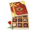 Luscious Love Chocolate Gift Box With Red Rose - Chocholik Luxury Chocolates