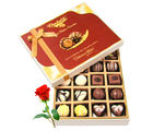 Beautiful Milk And White Collection Of Chocolates With Red Rose - Chocholik Belgium Chocolates
