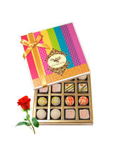 Treat Of White Truffles Box With Red Rose - Chocho...