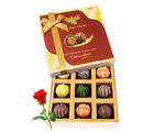 Beautiful Collection Of Chocolates With Red Rose - Chocholik Luxury Chocolates