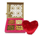 Master Collection Of Dry Fruits And Baklava With Heart Pillow - Chocholik Premium Gifts