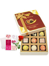 Enjoyable White Chocolates With Love Card And Rose...