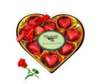 Decadent Wrapped Chocolate Box With Red Rose - Chocholik Luxury Chocolates