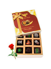 Delicious Dark Chocolate Treats With Red Rose - Ch...