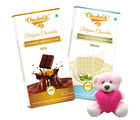 Chocholik Gifts For Her Or Him Chocolaty Surprise Gift To Tour Boyfriend With Teddy (CH4002_ TD)