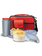 Milton Lavish 4 Containers Lunch Box - Red Color