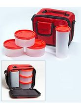 Milton Meal Combi 3 Containers Lunch Box - Red Color, red