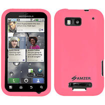 Amzer 89391 Silicone Skin Jelly Case   Baby Pink For Motorola DEFY Plus, Motorola DEFY MB525