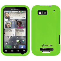 Amzer 89390 Silicone Skin Jelly Case   Green for Motorola DEFY Plus, Motorola DEFY MB525