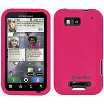 Amzer 89385 Silicone Skin Jelly Case   Hot Pink For Motorola DEFY Plus, Motorola DEFY MB525