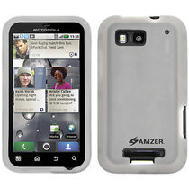 Amzer 89384 Silicone Skin Jelly Case   Transparent White for Motorola DEFY Plus, Motorola DEFY MB525