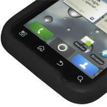 Amzer 89382 Silicone Skin Jelly Case   Black for Motorola DEFY Plus, Motorola DEFY MB525