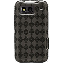 Amzer 89788 Luxe Argyle High Gloss TPU Soft Gel Skin Case   Smoke Grey for Motorola DEFY Plus, Motorola DEFY MB525