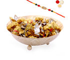 Ghasitaram Gifts Rakhi Chocolates-Golden Chocolate Bowl-R4